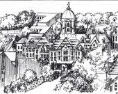 Custom College Art - Perfect Graduation Gift - Notre Dame