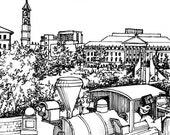 Custom University Drawing, Perfect Graduation Gift- Purdue, High school graduation, College graduation