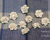 Handmade Rosettes(Prima look a likes) 10 WHITE