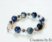 Blue Stone Bracelet by Creations by Emily