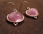 Glass Lavender Earrings