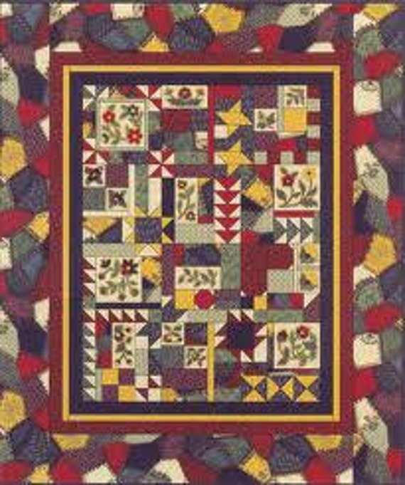 Crazy Quilt Pattern Fabric : Lazy Crazy Quilt Fabric and Pattern by Thimbleberries