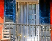 New Orleans French Quarter Balcony Window and Chair 11x14 Limited Edition Print