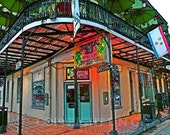 New Orleans French Quarter Old Historic Colorful Bar 11x14 Limited Edition Print