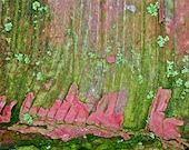 Abstract Fine Art Photography Moss Covered Barn Reclamation - 8x12