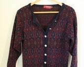 Vintage Patterned Cardigan by Pitlochry Knitwear