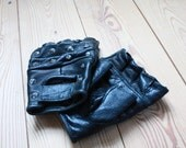 Vintage Leather fingerless Gloves with Studs.