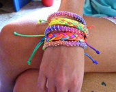 Neon colorful floss bracelet
