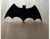 Retro Batman Logo Ring, Bat Ring, Black Acrylic Adjustable Ring