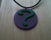 Riddle Me This... The Riddler Pendant, Question Mark Necklace