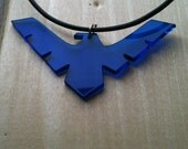 Nightwing Logo Pendant, Electric Blue Pendant