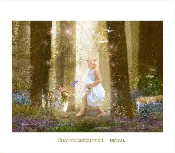 Fairy Fine art Print           Chance Encounter    Detail