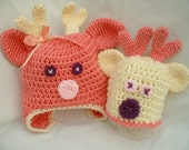 PDF 135 Reindeer Hat Baby Hat Pattern