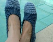 Womans House Slippers Crochet Pattern 205