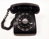 Black Rotary Phone Telephone