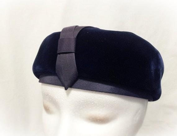 Vintage Hat-  Dark Blue Hat