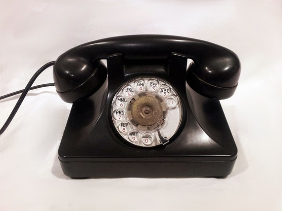 Black Rotary Phone- 1950s North Electric Galion