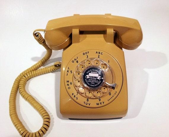 Mustard Yellow Rotary Phone