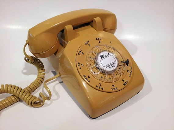 WORKING- Yellow Rotary Phone