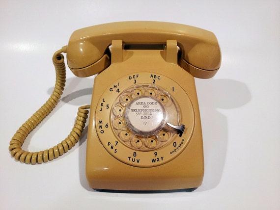 WORKING- Yellow Rotary Phone