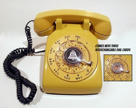Yellow Phone Telephone- Rotary Phone Working