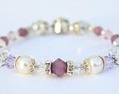 Crystal Passion Swarovski Bracelet in Purple Hues