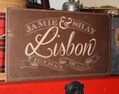 "Custom Wedding Wooden Sign - 10"" x 6"""