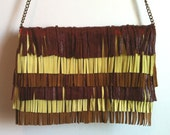 Aurélie by Albus Ater // Fringed clutch in fine leather