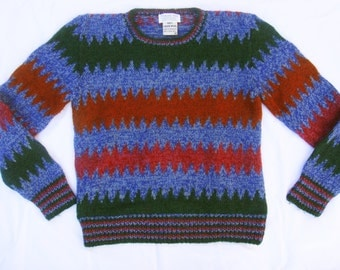 Vintage 80's Zig Zag Sweater