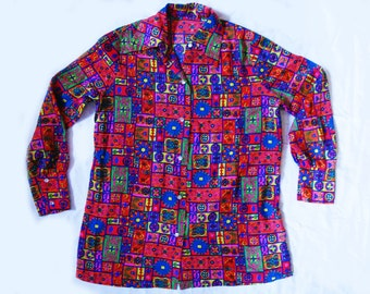 60's Psychedelic NEON Mod Print Shirt