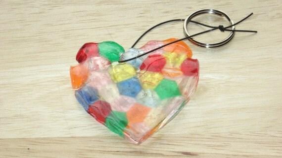 Keychain Heart Multi-colored