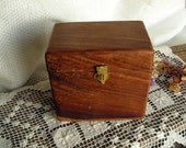 Exquisite Vintage Wood and Brass Trinket Box from Bombay