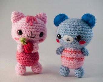 Amigurumi Baby Bear & Cat - Crochet Pattern