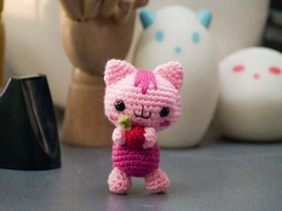 Knitted Amigurumi Cat Pattern : Amigurumi Baby Cat Crochet Pattern by AmigurumiWizard on Etsy