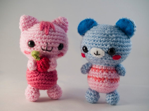 Amigurumi Baby Bear : Amigurumi Baby Bear & Cat Crochet Pattern by AmigurumiWizard