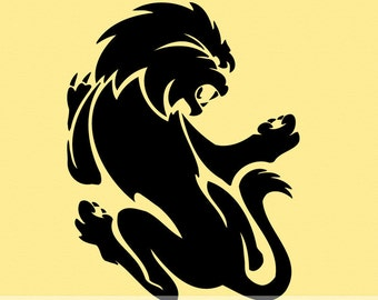 Big Cat Lion Vinyl Wall Decal LN001