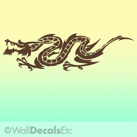 Vinyl Wall Decal: Horizontal Chinese Dragon HDR010