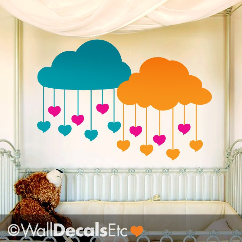 Clouds Nursery Wall Decor Nursery Decal Clouds With Hanging
