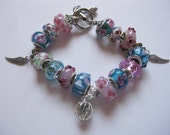 Pretty pink and blue bracelet