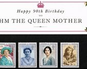 GB 1990 HM The Queen Mother 90th Birthday Commemorative Presentation Pack No: 210