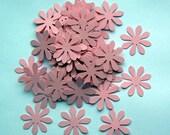 100 Die Cut Daises - Baby Pink