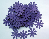 100 Die Cut Daises - Deep Purple