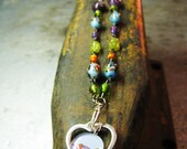 Birds of a Colorful Feather Necklace Reserved for Terri