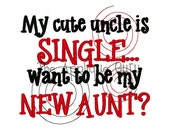 My Cute Uncle is Single  --  Machine Embroidery Design