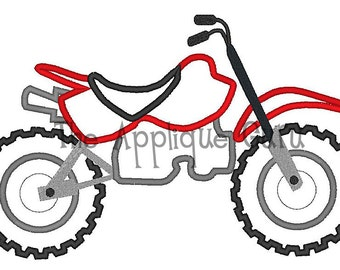 Dirt Bike Applique Machine Embroidery Design
