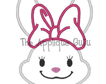 Easter Bunny Girl Applique Machine Embroidery Design