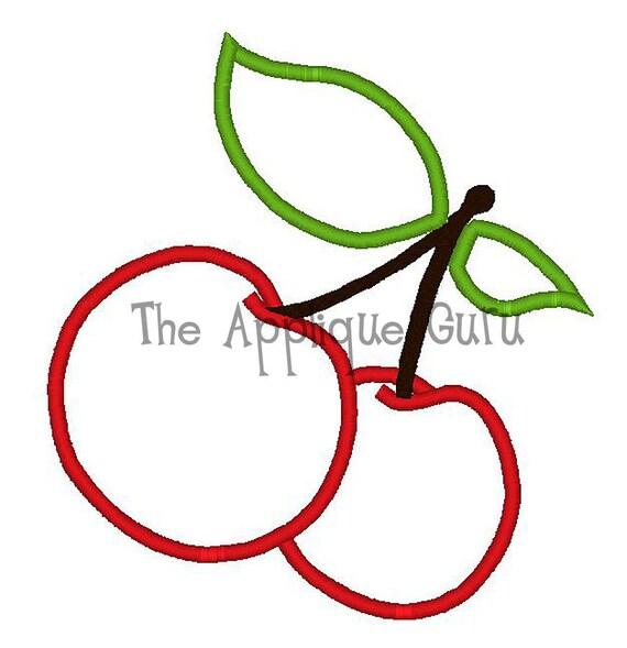 Cherries Applique Machine Embroidery Design