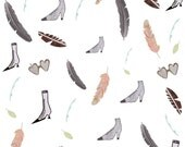 Patterened Illustration (vintage shoes and feathers)