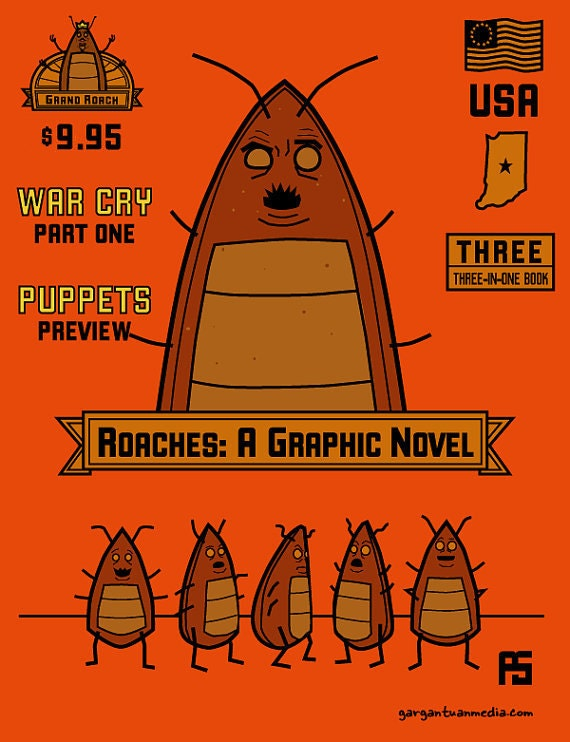 Roaches: A Graphic Novel plus Bookmark and Sticker