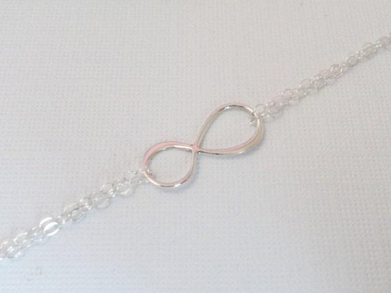 Silver Infinity Bracelet, Sterling Silver Eternity Bracelet RESERVED FOR KRISTIE